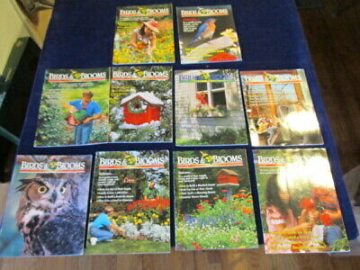 Birdwatching Birding BIRDS AND BLOOMS Magazine Lot of 10 Issues M12