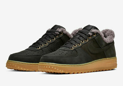 cheaper 4605e 01586 Nike Air Force 1 AF1 Premium PRM Winter Mens Size 9 Black Grey BV0131 001