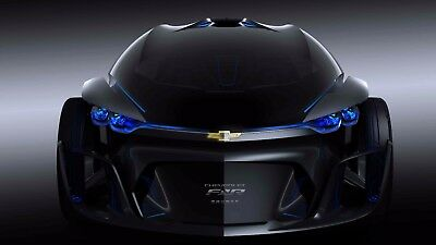 Chevrolet Concept Cars Drawing Screensaver Picture Free Economy Shipping 105