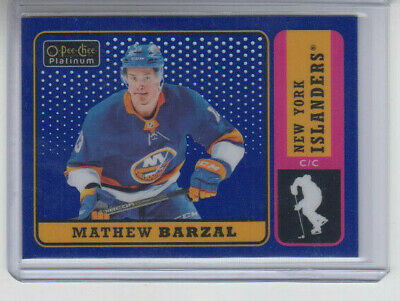 18/19 OPC Platinum New York Islanders Mathew Barzal Retro Blue #R-35 Ltd #81/149
