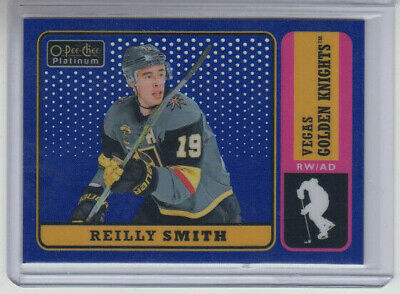18/19 OPC Platinum Vegas Golden Knights Reilly Smith Retro Blue #R-31 Ltd #/149
