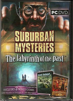 SUBURBAN MYSTERIES: The LABYRINTH OF PAST Hidden Object 3 PACK PC Game DVD NEW