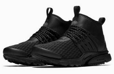timeless design 8f46f c4289 Womens Nike Air Presto Mid Utility PRM Size 10 Shoes Triple Black AA0674 003