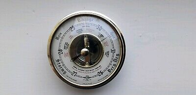 Vintage Sb Brass British Made Barometer Insert Good Condition As Photos