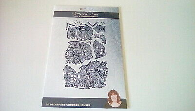 """Tattered Lace /""""FRESCO FLORAL ORCHID/"""" 3D decoupage deep embossed die cuts-3 sets"""