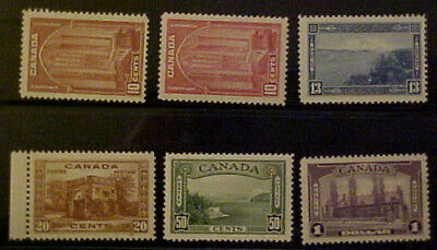 Canada Scott #241-245 Including #241a Mint NH Set Of 6 Stamps