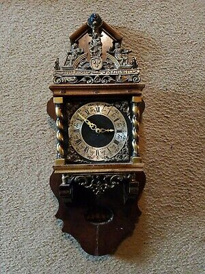 Old Zaanse Zaandam Warmink Wuba Dutch Antique Vintage Wall Clock coverted