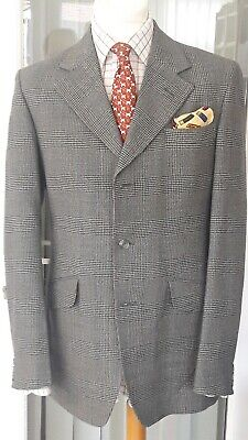 "Gents fine Vintage Green Tweed Check Suit Country Bespoke 2 piece 40/41""ch 1940s"