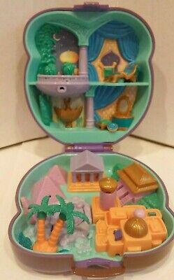 Vintage Alladin Polly Pocket Disney Compact Only Playset Case 1995 Bluebird Toys