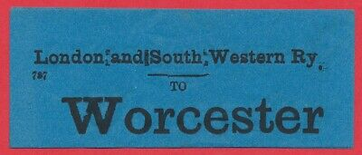 London & South Western Railway luggage label - WORCESTER