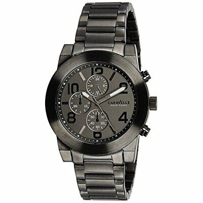 Caravelle New York Chronograph Gunmetal Stainless Steel Men's watch #45A124