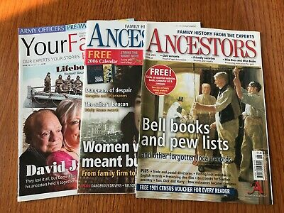 2 x ancestors magazines issues 41,22.  1 x your family history magazine issue 10