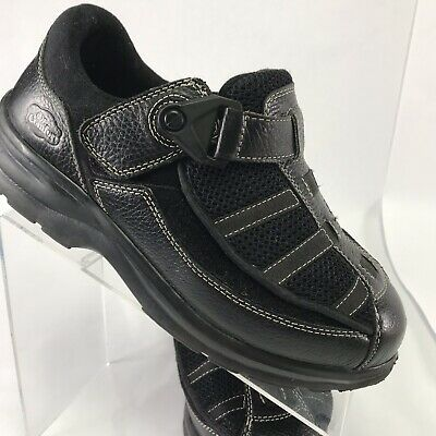 2115fdf10401 Dr Comfort Womens 9W Lucie X Double Depth Diabetic Comfort Shoes Black Easy  On