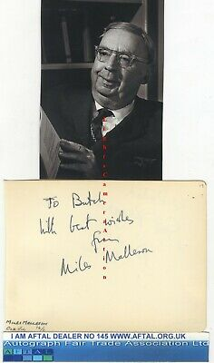 Miles Malleson, Buddy Greco vintage signed page AFTAL#145