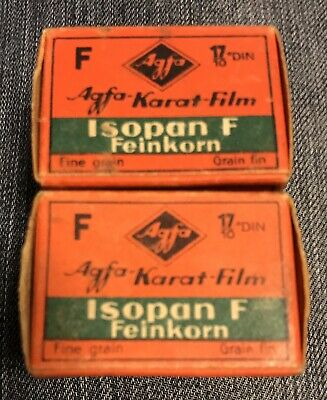 NOS Vintage 1940s AGFA Karat Finopan f Camera Film 1 Roll Munchen Germany Box