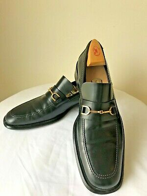 06a927e2a VINTAGE GUCCI LOAFERS Black Leather Mens Sz. 9-1/2/ 10D Tom Ford ...
