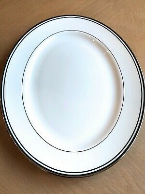 "Lenox Federal Platinum Black 13"" Oval Platter New First Quality Made in USA"