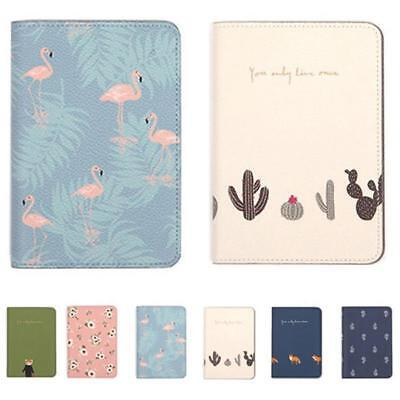 Passport Cover Wallet Card Holder-Luggage Address Flamingo Travel Accessories HZ
