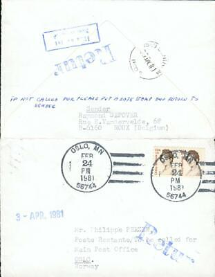 USA Norway special 2 state cover Oslo Norwegen gx59