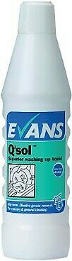 Evans Q'Sol Superior Washing Up Liquid 1L
