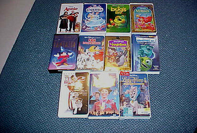 Lot of 11 Disney VHS Movies