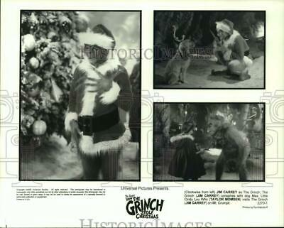 2000 Press Photo Jim Carrey and Taylor Momsen in How The Grinch Stole Christmas