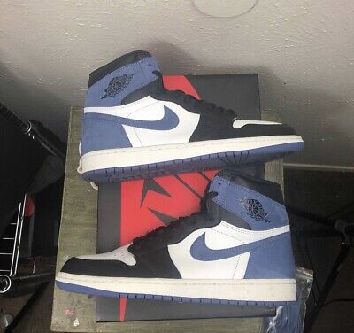 8509cef056c NIKE AIR JORDAN 1 High OG Retro Blue Moon 555088-115 SIZE 14 With ...