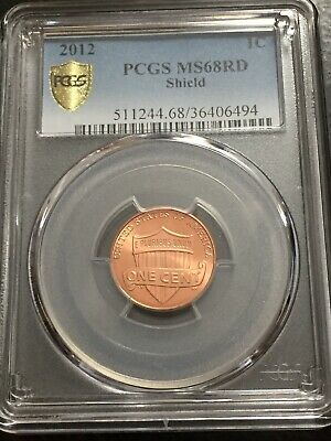 "2012 P LINCOLN SHIELD CENT PCGS MS68RD ""ONLY 3 W/Higher POP"""