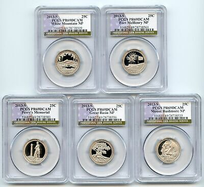 2013 S Clad National Parks Quarter Set PCGS PR69DCAM