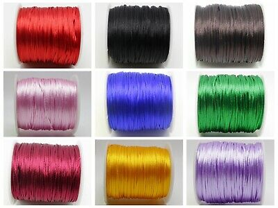 70 meters 1mm Braided Macrame Satin Silk Cord Chinese Knot Nylon Rattail Thread