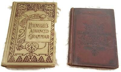 2 Antique 19th Century English Grammar and Composition Books - Diagramming