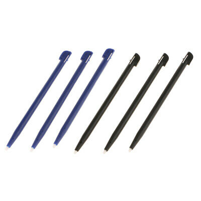 6Pack Slot in Touch Screen Pen Stylus Resistive for Nintendo 2DS Black+Blue