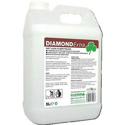Clover Diamond Extra 'Wet Look' Floor Polish (25%) 5L