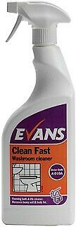 Evans Clean Fast Washroom Cleaner RTU 750ml
