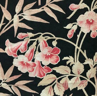 BEAUTIFUL 19th CENTURY FRENCH NAPOLEON III FLORAL LINEN COTTON  c1870, 127.
