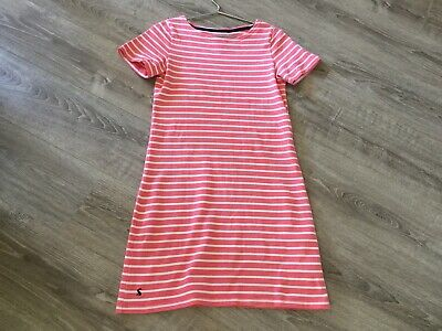 74516dafbfcdd Joules Pink Striped Short Sleeved T-shirt Dress - Size 10 - Excellent  Condition