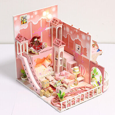 DIY Assembly Miniature Dollhouse Kit with Furniture, LED Light, Music Box #5