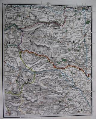DURHAM  YORKSHIRE  DARLINGTON  RICHMOND  JOHN CARY GENUINE ANTIQUE MAP  c1824