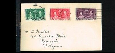 1937 - Newfoundland FDC - Famous People - Royalty - Coronation King George VI an