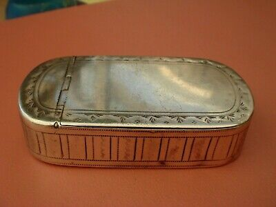 Rare Three Way Georgian Solid Sterling Silver English Hallmarked 1798  Snuff Box
