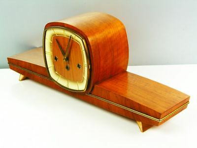Pure Later Art Deco Westminster Chiming Mantel Clock From Hermle Germany