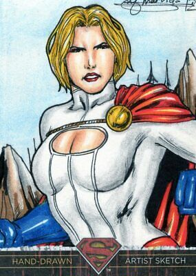 DC Comics Superman: The Legend Color Sketch Card by Marvida - Power Girl