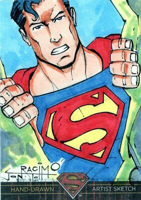 DC Comics Superman: The Legend Color Sketch Card by Racimo - Superman
