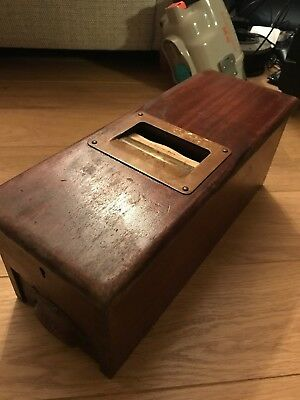Old vintage Mahogany shop cash till drawer register by  G.H. GLEDHILL AND SONS