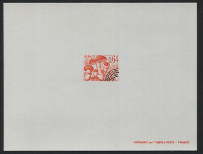 France 1989-1990 64c Mushroom Pre-Cancel Deluxe Proof on  Thin Card