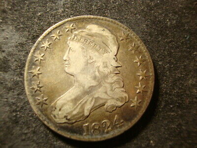1824  VF Capped Bust Half Dollar Defect Free Coin MLC
