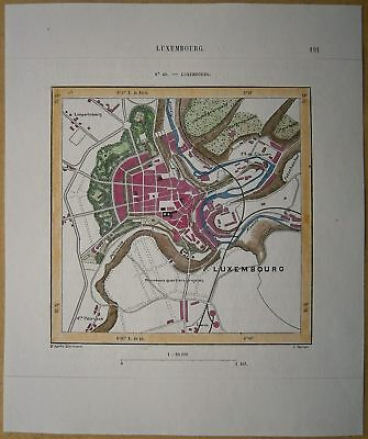 1879 Perron map: Luxembourg, Grand Duchy of Luxembourg (#40)