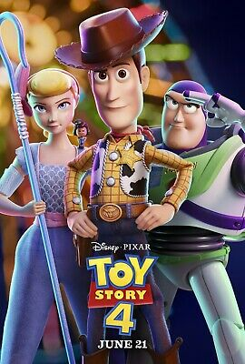 Toy Story 4 movie poster  - 11 x 17 - Woody, Buzz and Bo Peep
