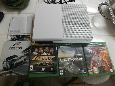 Microsoft Xbox One S 1Tb Cosole Only With 4 Games 2017 Model Used Few Times