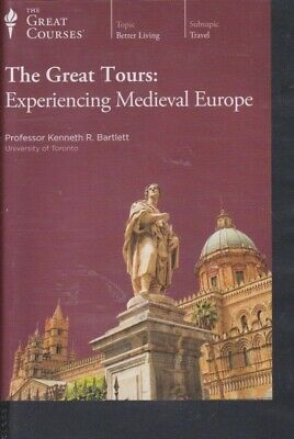 DVD~ EXPERIENCING MEDIEVAL EUROPE by THE GREAT COURSES ~24 LECTURES 4 DVDs +BOOK
